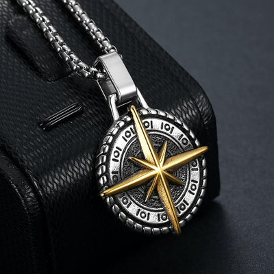 North Viking Compass Necklace - TheNineOneOne