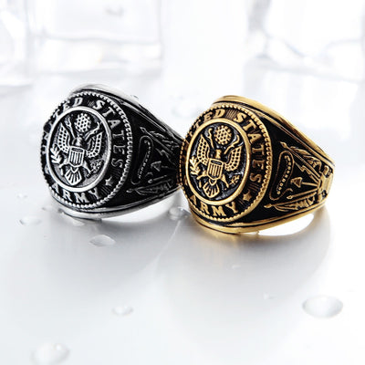USA Military Badge Ring