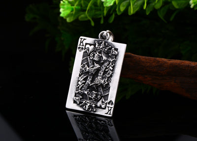 Poker Skull Pendant Necklace