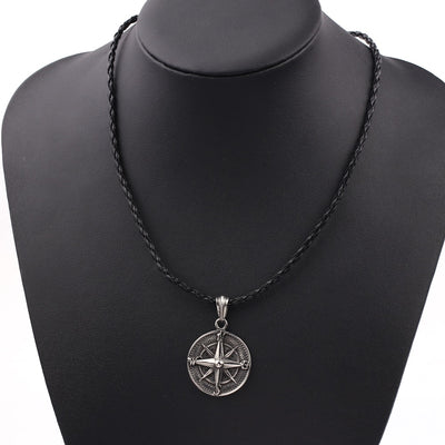 Round Compass Pendant Necklace