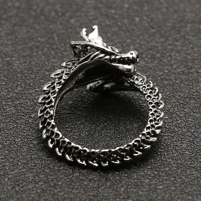 Adjustable Silver Dragon Ring - TheNineOneOne