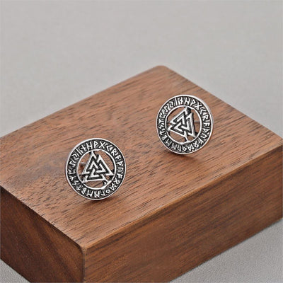Viking Valknut Runes Earrings