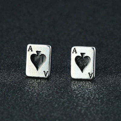 Ace of Spades Earrings - TheNineOneOne