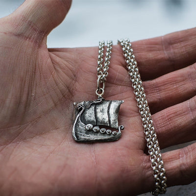 Viking Warship Necklace