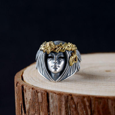 Norse Mythology Viking Goddess Frigg Ring - TheNineOneOne