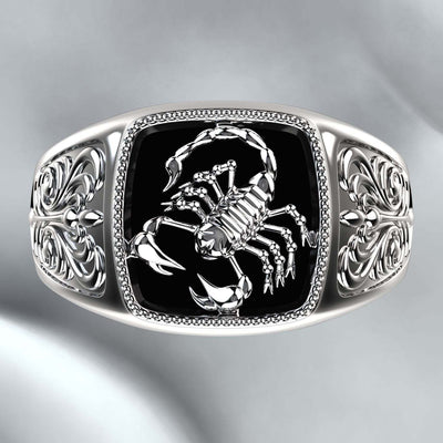 Silver Scorpion Rings