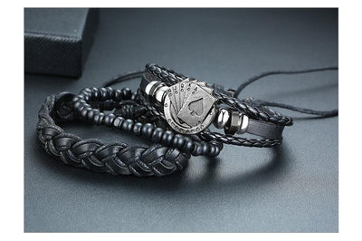 Braided Leather Bracelets - TheNineOneOne