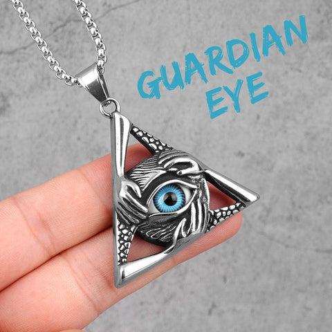 Guardian Eye Triangle Necklace