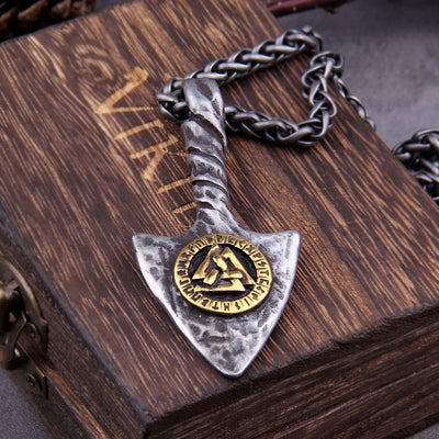 Viking Rune Spear Necklace