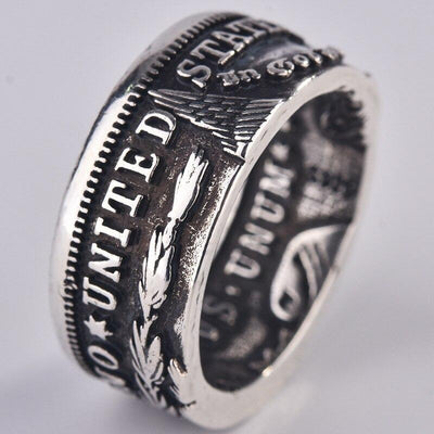 Retro American National Emblem Ring - TheNineOneOne