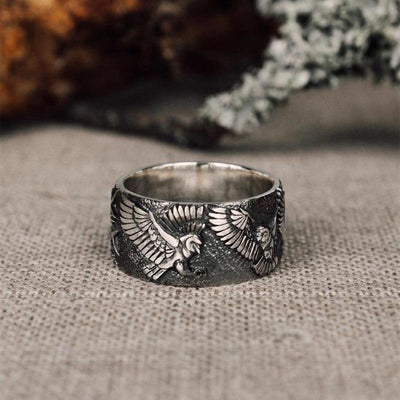 Antique Silver Colored Eagle Ring - TheNineOneOne
