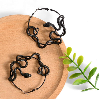 Black Snake Earrings - TheNineOneOne
