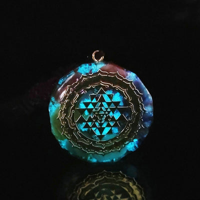Orgonite Sri Yantra Necklace