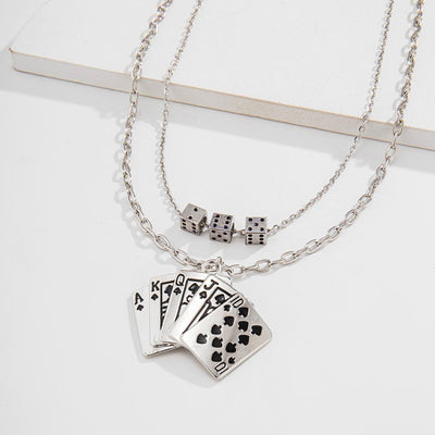 Poker Pendant Necklace