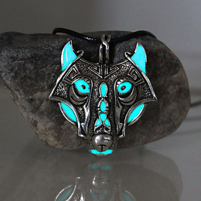 The Vikings Glowing Wolf Necklace