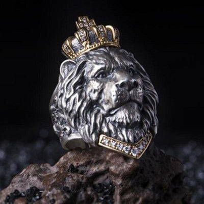 Retro Crown Lion King Ring - TheNineOneOne