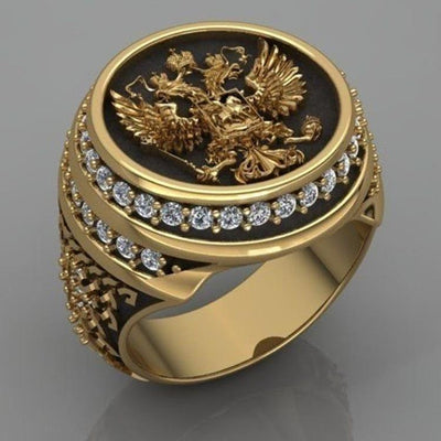 Two Head Eagle Ring Spirit of The Empire Eastern Roman Legion