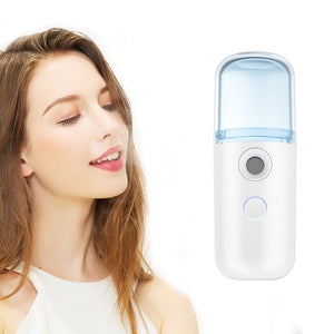 Mini Handy Facial Steamer Nano Mister Face Spray USB Rechargeable Portable Face Spray Bottle Skin Care Tools Beauty Instruments