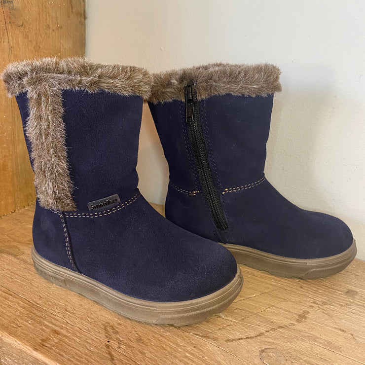 Ricosta Usky Boots Blue Suede