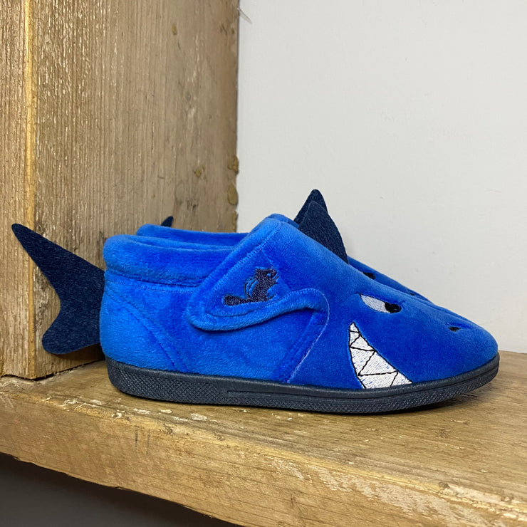 Chipmunks Sharky Slippers Blue