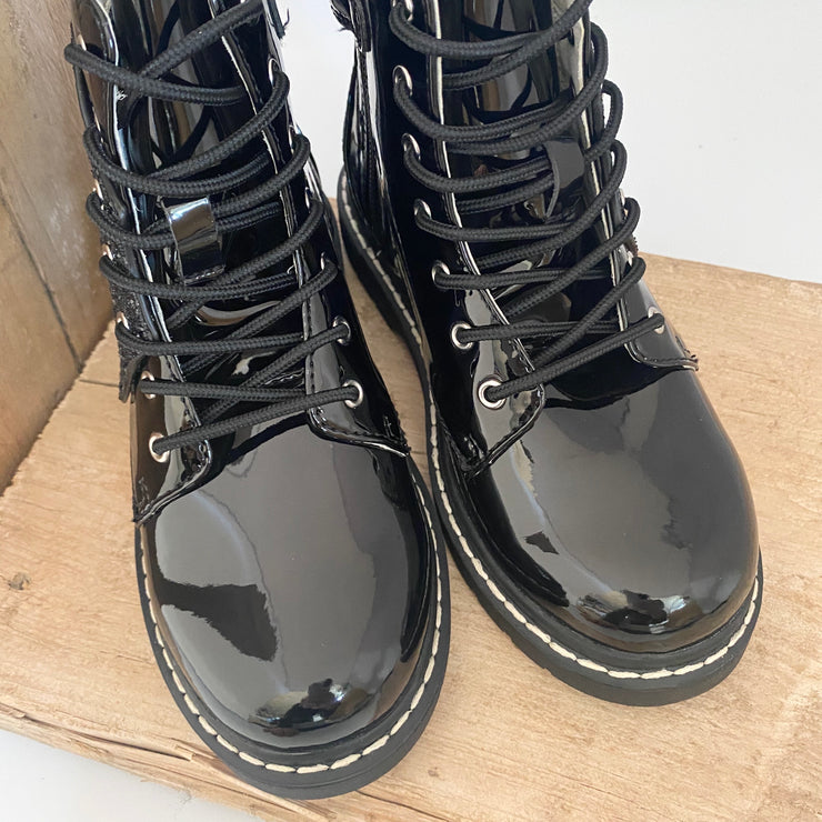 Lelli Kelly Fairy Wings Boots Black Patent