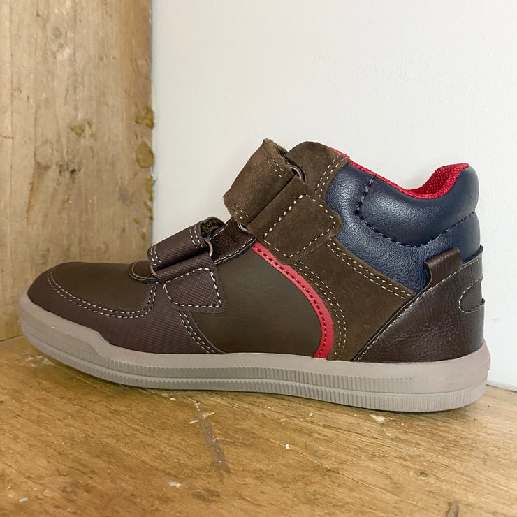 Geox Arzach Trainers Coffee and Red