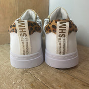 Shoesme White Leopa Trainers