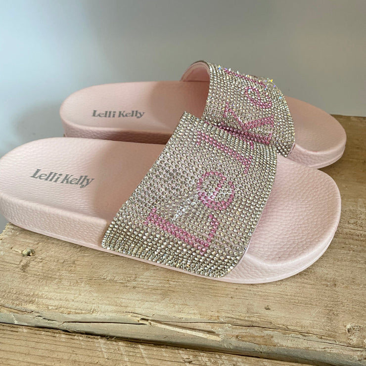 Lelli Kelly Irene Sliders Pink Diamante