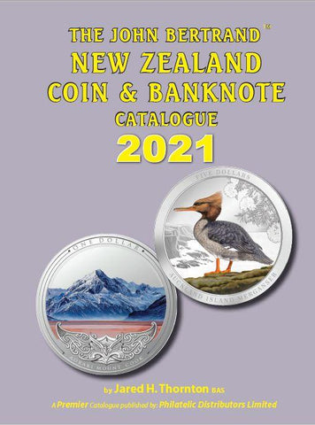 2021 JOHN BERTRAND NZ COIN & BANKNOTE CATALOGUE - SIGNED BY THE AUTHOR