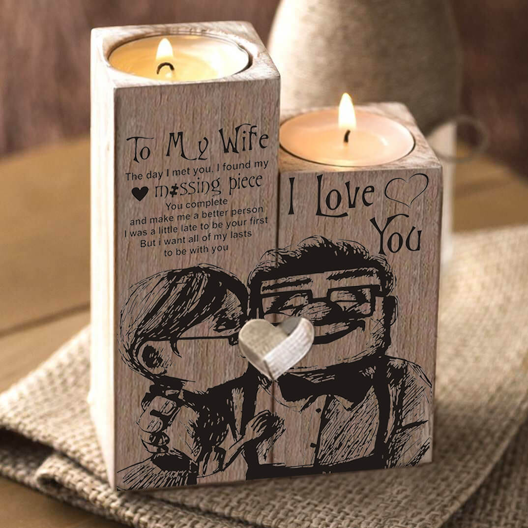 Wood Candle Holder | My Lovely Presents