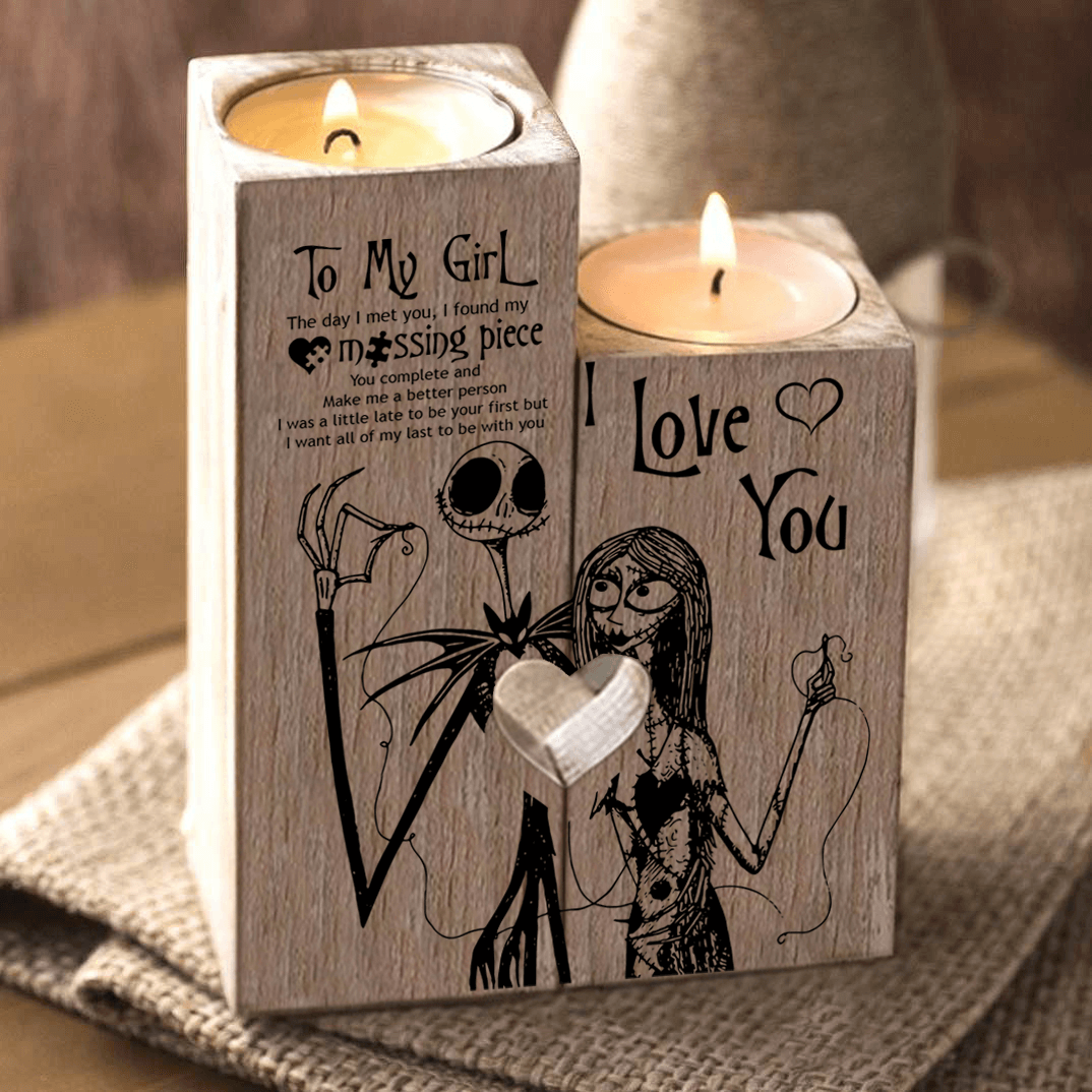 Wooden Candle Holder | My Lovely Presents