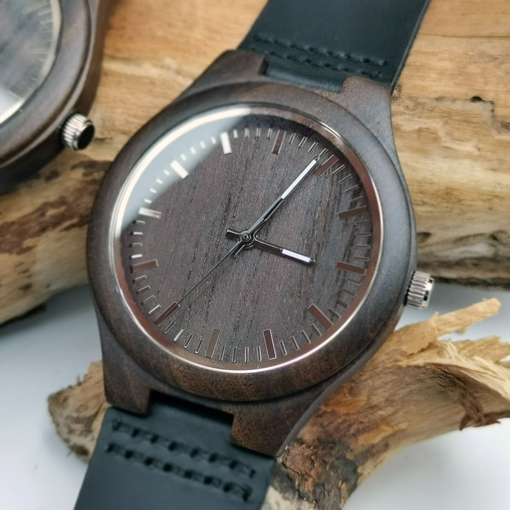 Engraved Wooden Watch | My Lovely Presents