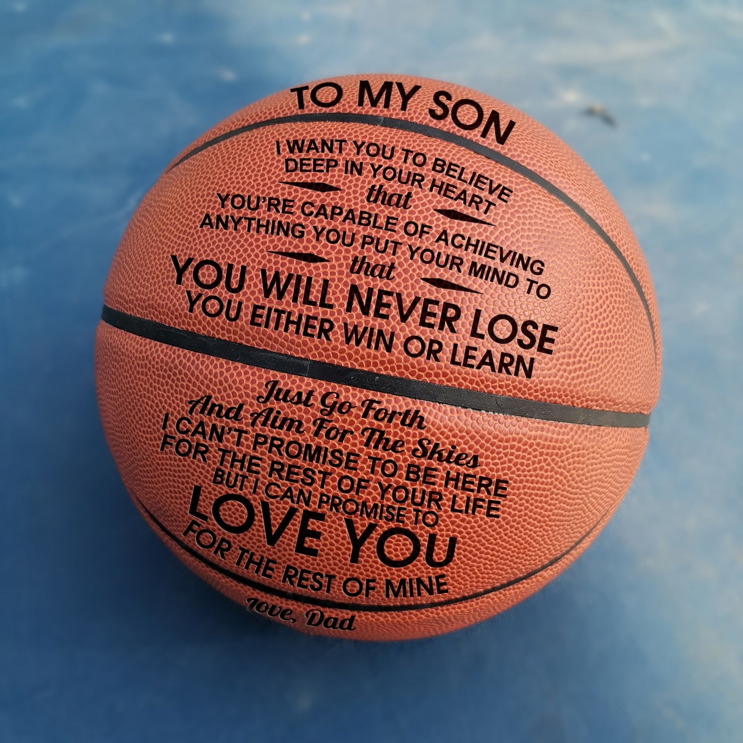 Engraved Basketball | My Lovely Presents