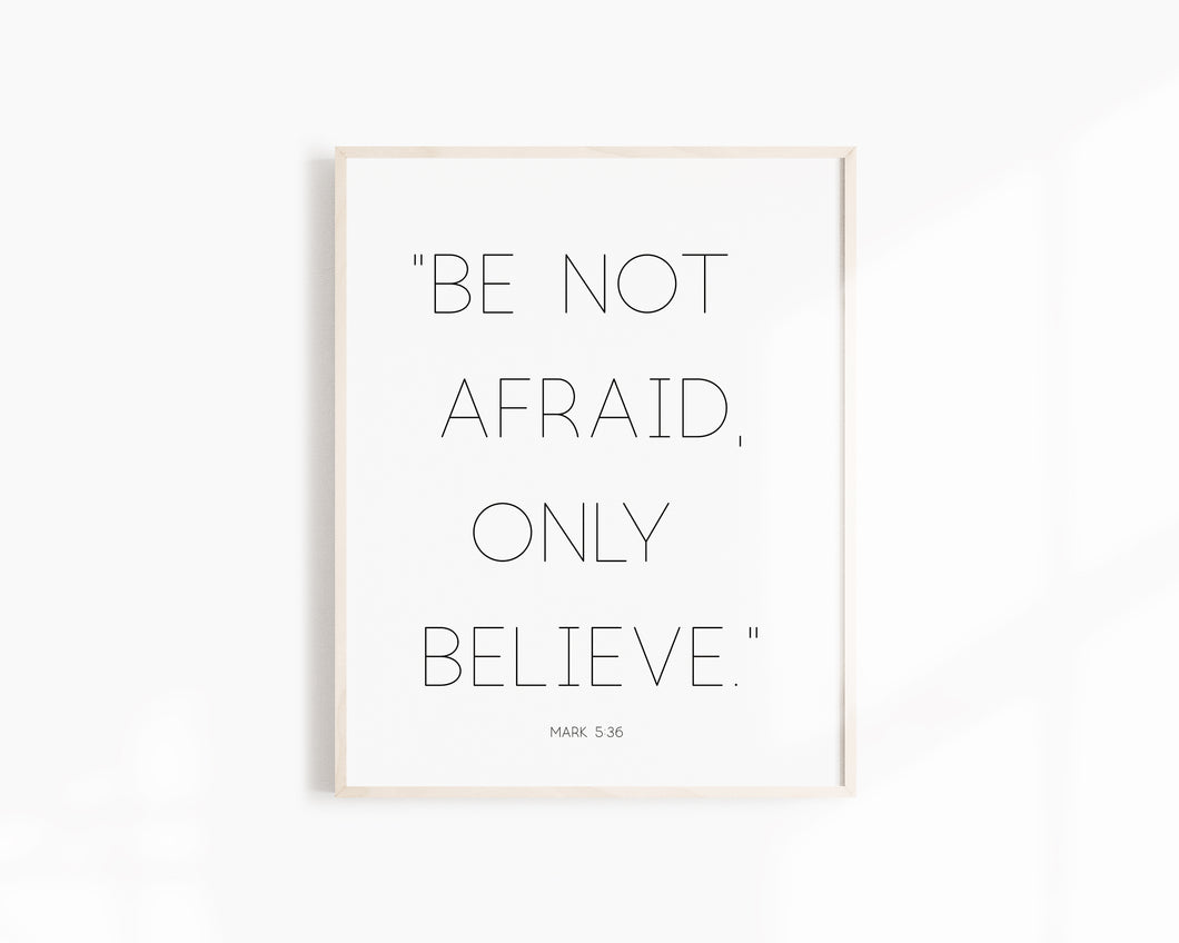 Be Not Afraid (centered)