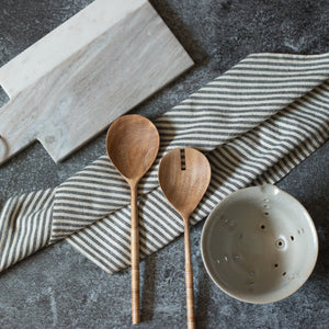 Bamboo Wrapped Wood Salad Servers