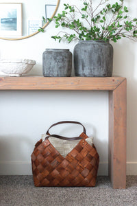 Seagrass and Leather Baskets