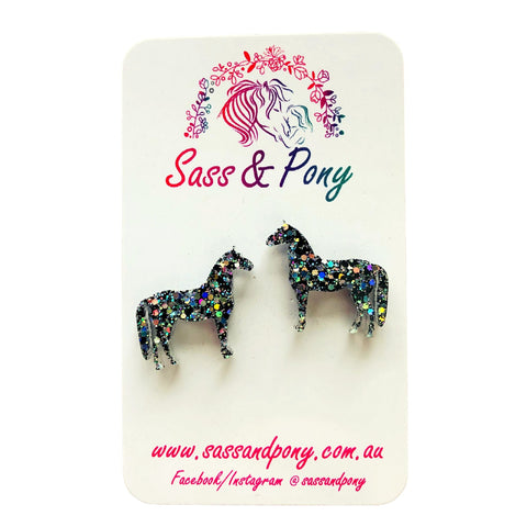 Glitter Horse Earrings - Assorted