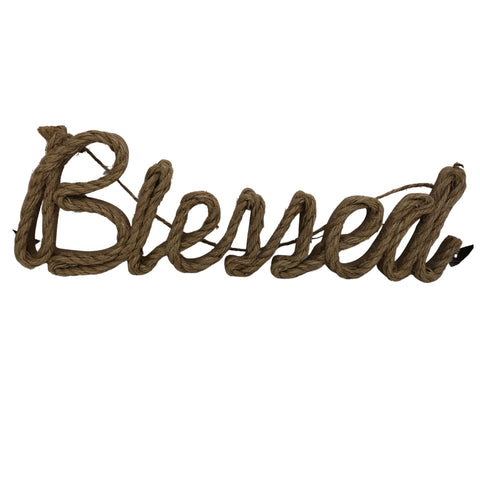Rope Sign - Blessed