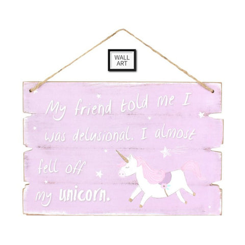 UNICORN WORDING WALL ART