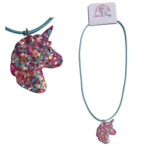 Unicorn Necklace - Assorted Colours