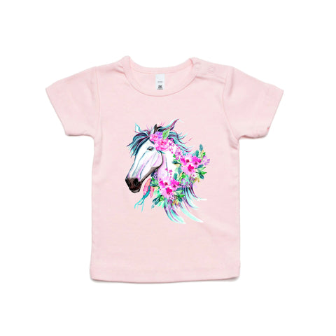 Infant Kalai Horse T Shirt - Assorted Colours