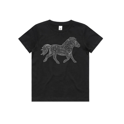 White Floral Pony T Shirt