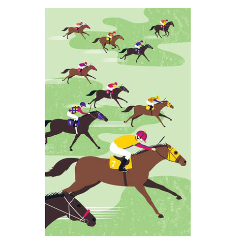 Racehorse Tea Towel