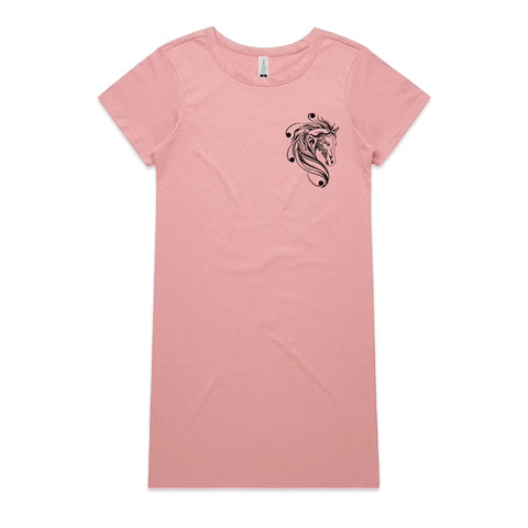 Rose Shadow T Shirt Dress