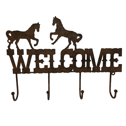 Welcome Sign - Coat & Hat Hooks