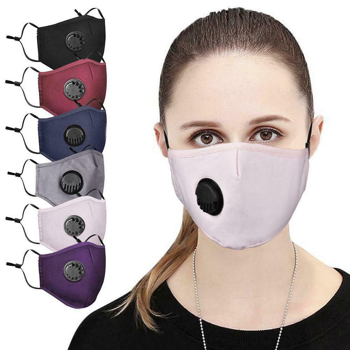 Cotton face Mask with breathing valve-face mask-All10dollars.com