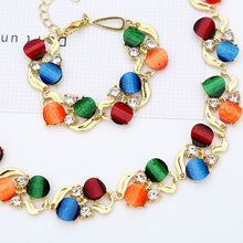 Load image into Gallery viewer, Wedding Jewelry Sets For Women Round Pendant Necklaces Earrings Bracelets Set Accessories-Women jewelry set-All10dollars.com