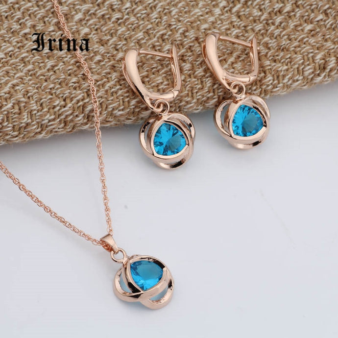 Ronny Rose Gold Earring and Necklace Set-necklace-All10dollars.com