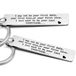 Gift for girlfriend boyfriend letter Keychain small love gift present party favor-Party key chain-All10dollars.com