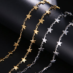 Star Stainless Steel Chain Necklace Gold Silver Color For Pendant Pentagram-Star necklace-All10dollars.com